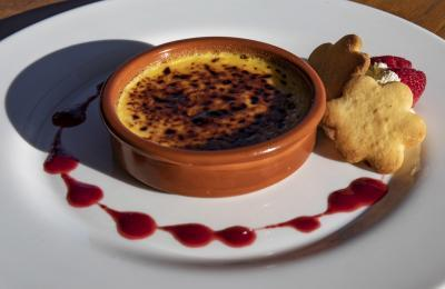 Crème brûlée at The Bridge Tavern
